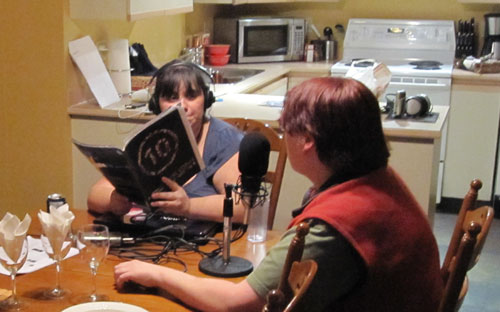 Colleen & Marina Podcasting